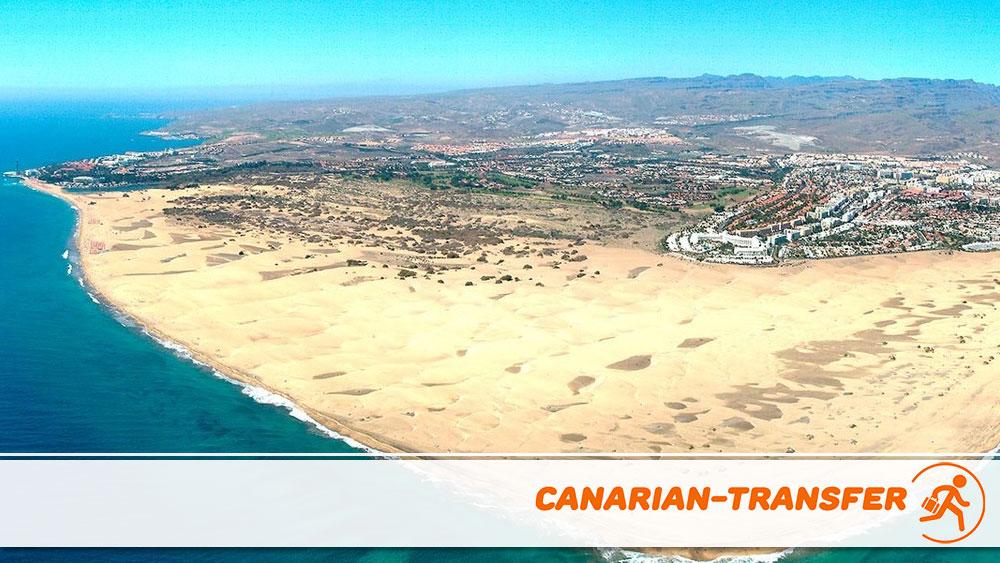 Touristic zones of Gran Canaria